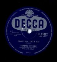 Tommy Steele - Come On Let's Go/Put A Ring On Her Finger (F 11072) 78 rpm